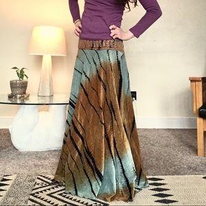 Dresses & Skirts - Full length velour wrap skirt
